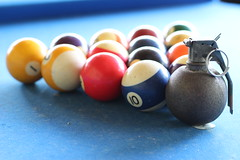 Action Packed Pool (pronoobphoto) Tags: pool billiards boom grenade blast product