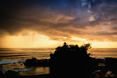Storm Over Tanah Lot (Trent's Pics) Tags: beach sea goldenhour sunset balinese rain storm lanscape seascape ocean temple indonesia bali tanahlot