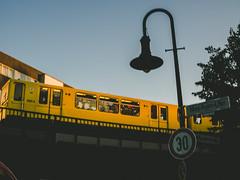 30 (ohnede) Tags: berlin ubahn kreuzberg lamp post sign colors sky bridge