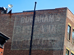 Burnham's Beef Wine, New York, NY (Robby Virus) Tags: newyork city newyorkcity manhattan ny nyc bigapple burnhams beef wine tonic restorative iron ghost sign faded ad advertisement patent medicine snake oil
