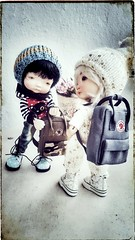 Want to go to school (I am!!) Tags: irrealdoll irrealdolls bjd yosd tiny backpack fjallraven dolls school