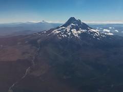 Mt Hood with Mt Jefferson in the distance (Matt McGrath Photography) Tags: mounthood oregon unitedstates aerial flight mtjefferson