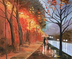 Terzo studio su Afremov (Artlynow galleria d'arte) Tags: dipinto quadro quadroolio pittura paesaggio afremov artista santinamord
