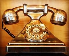 What is old is new again! #phone #analogisdead #elegant #glam #golden #lobby #marriott #funky #nostalgic (cliffordhwatson) Tags: phone analogisdead elegant glam golden lobby marriott funky nostalgic
