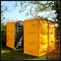 ruralrelief (Ian's Art....) Tags: yellow rural downs saturated outdoor plastic colourful portaloo iansart d60vr1855 lexar8gb