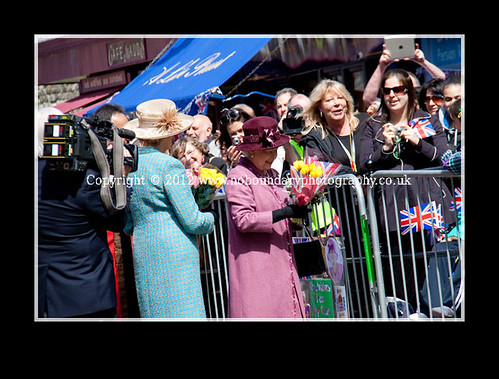 Local residents meet Her Majesty The Queen at Windsor Guildhall-99