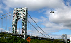 GWB&SS_9507 (Tom Kostro) Tags: nyc river flying space over shuttle hudson enterprise spaceshuttle gwbridge
