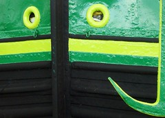 Shoreham Houseboats BLACK & GREEN (brightondj - getting the most from a cheap compact) Tags: black green boat colours bow anchor lime houseboats shoreham shorehambysea