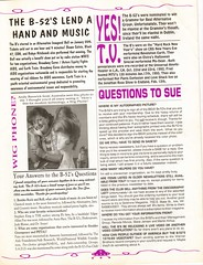 The B-52'S U.F.O. Volume #1 Issue #3 (A.Currell) Tags: 3 club magazine 1 fan ufo sue issue rag b52s 52 volume the fanzine theb52s scan01 sue52