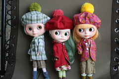 I made Duffel Coats and hats! (These are all my customs too)