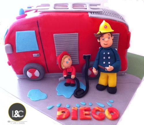 Fireman Sam & his little helper