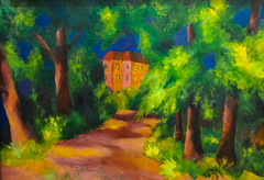 August Macke - Red House in the Park, 1914 at Kunstmuseum Bonn Germany (mbell1975) Tags: park red house art museum modern germany painting deutschland bonn gallery museu expression august musée musee m german expressionist museo 1914 muzeum deutsch macke kunstmuseum müze museumuseum