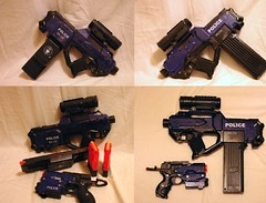 Seburo Nerf Mods- Final (Haystack Hair) Tags: mod nerf ghostintheshell element seburo paintjob shirowmasamune rayven
