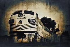 """5771"" a gum print (jrlarimer) Tags: railroad gum nostalgia gumbichromate riogrande contactprint digitalnegative altprocess gumprint"