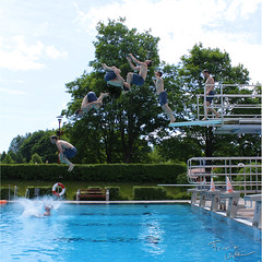Backflip - Sequence (FL|photography) Tags: blue sky green water pool swimming swim canon photography eos back jump jumping felix board creative diving flip sequence behr backflip 600d
