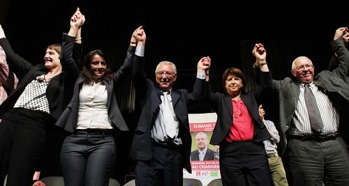 Marjolaine Pierrat-Ferraille, Martine Aubry, Cécile Duflot et Slimane Tir