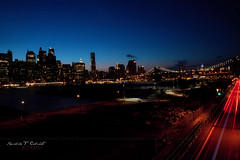 Brooklyn Heights Promenade (Ronaldo F Cabuhat) Tags: city nyc newyorkcity longexposure nightphotography summer usa ny water brooklyn canon landscape photography lowlight travels nightshot brooklynheights brooklynheightspromenade brooklynbridge eastriver vacations nycskyline pier17 brooklynqueensexpressway southseaport i278 freedomtower canonef24105f4isusm canonspeedlite580exii canoneos5dmarkii cabuhat hudsonriverestuary exploreinterestingnewyork