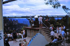 1967 Blue Mountains: Tourists at Worlds largest Privately Owned Telescope slide 578 (Yvonne Thompson) Tags: australia bluemountains tourists telescope nsw 1967 1960s