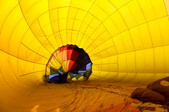 Inside the Balloon (andrewpug) Tags: blue red hot color green smile yellow happy colorful air balloon hotairballoon