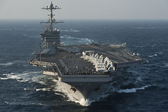 USS George Washington is in the East China Sea...
