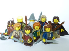 The Yellowship of the Ring (Groovybones) Tags: yellow sam lego lord rings gandalf aragorn merry pippin frodo gimli fellowship boromir legolas
