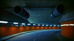 Approach with Caution! (Blue Rave) Tags: road light berlin lines germany underground deutschland lights vanishingpoint europa europe path illumination tunnel illuminated line icc ontheroad pathway 2012 destinationunknown iccberlin