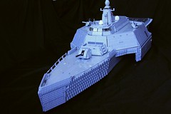 HMS Neptune bow (Babalas Shipyards) Tags: ship lego military navy stealth frigate corvette warship trimaran moc