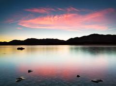 Tekapo dreams (Luke Tscharke) Tags: morning newzealand cold sunrise reflections rocks colours nz laketekapo tiltshift vertorama