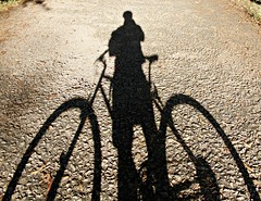 My shadow / A minha sombra (PMTN) Tags: shadow portugal bike bicicleta sombra coimbra choupal
