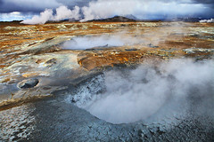 Savage Earth (Aubrey Stoll) Tags: travel volcano iceland europe steam hills pools sulphur cracks boilingmud boilingwater lakemyvatn