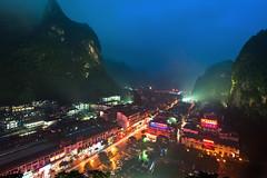Yangshuo district (Tonnaja Anan Charoenkal) Tags: china city travel river li guilin yangshuo