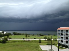 It's looking kind of dark over to the west. I'm glad I'm not in Cocoa Village right now! (herrea) Tags: camera by phone image taken herrea