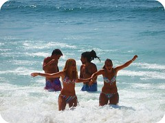 summer time (* Patrícia *) Tags: blue boy sea summer white praia beach portugal girl branco azul mar verão barra aveiro praiadabarra