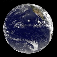 Satellite Sees Two Tropical Cyclones Chase Tropical Storm Daniel (NASA Goddard Photo and Video) Tags: rain weather pacific earth daniel nasa tropicalstorm