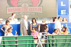 Michelle OBAMA Washington Kastles Tennis (Valen Kay Photography) Tags: world road sunset shadow people woman selfportrait reflection cute men sports speed court advertising real fun 50mm dc cool teams team jump model eyes shadows shine angle zoom action shots stadium stadiums background famous capital fine perspective adorable award atmosphere highlights arena business tennis pro match series recreation athletes spectators capture standard sunsetpark sideview simple adults technique showcase highlight 125mm 2012 firstlady ratio liner thelook 2011 wtt 60d stadiumentrance canon60d michelleobama tennisgame kastles valenkayphotography seriouis