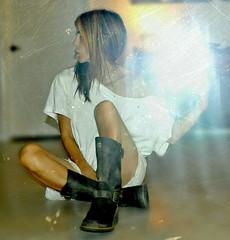 x (nikkidelmont) Tags: portrait reflection texture girl self mirror nikon boots flash nikkidelmont