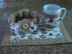 mug rug + cestinha (Zion Artes por Silvana Dias) Tags: caf patchwork cozinha xcara ch cesta mugrug tapetedecaneca zionartes