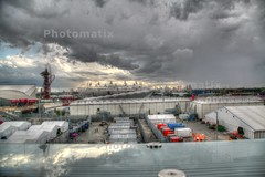 Olympic Park HDR 4 painterly (cabby dave) Tags: city urban painterly london canon olympics hdr stratford photomatix