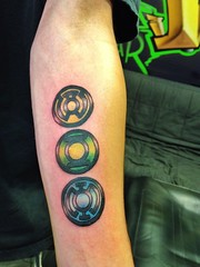 Green lantern tattoo by Wes Fortier