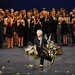 Monica Mason's curtain call and flower throw. © The Ballet Bag/ROH 2012
