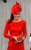 Catherine, Duchess of Cambridge aka Kate Middleton The Queen's Diamond Jubilee River Pageant Flotilla London, England