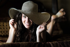 Holly with Hat (mapaolini) Tags: hat austin michael model nikon texas naturallight holly d4 paolini