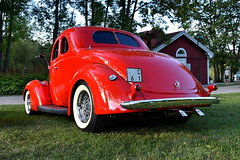 Ford Coupe 1937. (Papa Razzi1) Tags: 7551 2016 202365 ford coupe 1937 carmeet july summer sundby red carwednesdays2016