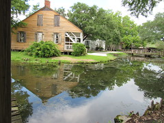 IMG_6057 (halffullpl) Tags: acadianvillage louisiana buildings structure history architecture old historic village acadian pattylebedhessphotos water reflection