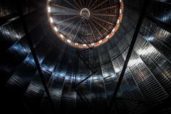 Southall Gasometer (stuarthomas_) Tags: southall london gasometer gas gasworks britishgas londoncity heathrow metal structure industrial grime dirt oil abandoned derelict ue urbanexploration uk england