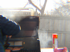 sights of a normal summer day... (iamlewolf) Tags: summer man hot dogs dinner person spring rainbow nikon dad smoke may grill hamburgers coolpix trippy simple 2016 nikoncoolpix tripppy l320 nikonl320