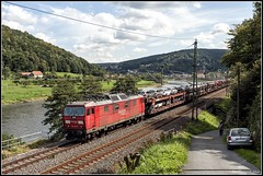 DB Railion_BR 180 012-7_Knigstein_Sachsen_DE (ferdahejl) Tags: dbrailion br1800127 knigstein sachsen de