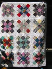 Granny Square Quilt (cupcakes photos) Tags: modern domestic long arm machine granny square quilt