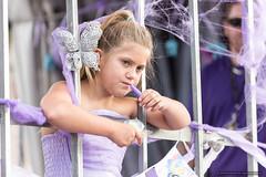 Kids - white butterfly - Jacaranda Parade 2015 (sbyrnedotcom) Tags: 2015 people events grafton jacaranda parade rural town girl float kid bars nsw australia