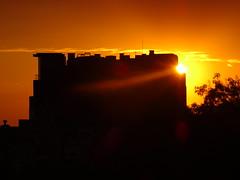 sunrise light (Hristo Takev) Tags: sun sunrise gold golden sky silhouette sunrays light sofia bulgaria
